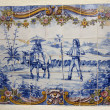 Hand painted azulejo piece — Stock Photo #36105911