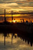 Marina of Faro city — Foto Stock