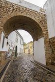 Arch entrance of Faro city — Stok fotoğraf