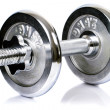 ������, ������: Chrome dumbbell equipment