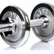 Постер, плакат: Chrome dumbbell equipment
