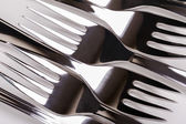 Kitchen table forks — Stock Photo