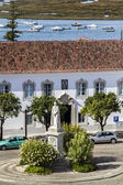 Main square of the old town Faro — Stock Photo