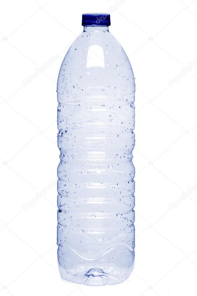 Empty plastic water bottle — Stock Photo © membio #43340425