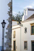 Street architecture of the old city of Faro — Stock Photo