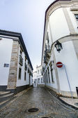 Historical streets on the old town of Faro — Stock Photo