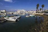 Beautiful marina with boats in Faro, Portugal — Stockfoto