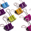 Colorful office binder clips — Stock Photo #50859163