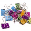 Colorful office binder clips — Stock Photo #50859307