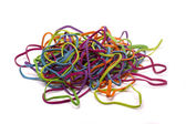 Colorful elastic rubber bands — Stock Photo