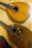 Two mandolin classical guitars — Stock Photo