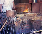 Blacksmith metal workshop — Stock Photo
