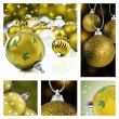 Collage of colorful christmas decorations — 图库照片
