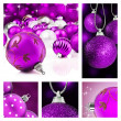 Foto Stock: Collage of colorful christmas decorations