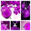 collage de coloridas decoraciones de la Navidad — Foto de Stock