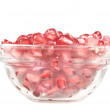 Stock Photo: Pomegranate fruit and pipps