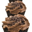 Stock Photo: Lovely fresh chocolate cupcakes - very shallow depth of field