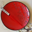 Japanese red round dish — Stockfoto #12668085