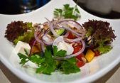 Greek salad close up — Stock Photo