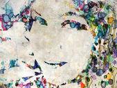 Watercolor girl — Stock Photo