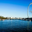 London Eye and river Thames — Stock Photo