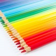 Set of multicolored pencils on white background — Stock Photo #15652641