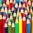 Background of multicolored pencils for art closeup — Stock Photo #15653923