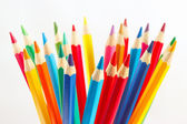 Color pencils for creativity on a white background — Stock Photo