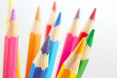 Color pencils for creativity on a white background closeup — Stock Photo