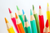 Color pencils for art on white background closeup — Stock Photo
