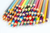 白い背景の上の芸術のための色の鉛筆のセット — ストック写真