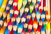 Background of colored pencils for creativity closeup — Stock Photo