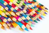 Set of multicolored pencils for creativity on a white background — Stock Photo