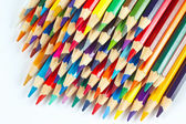 Set of multicolored pencils for art on a white background — Stock Photo