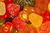 Background of colorful sweetmeats and jelly closeup — Stock Photo