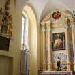 Old catholic church interior in Carpathians — Stock Photo #6645382