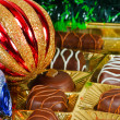 New Year's still life of chocolate candy — Stock Photo #7414131