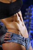 Woman abs — Stock Photo