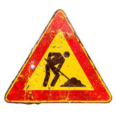 Vintage road sign — Stock Photo