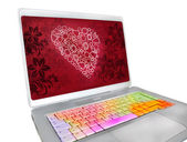 San Valentin keyboard — Stock Photo