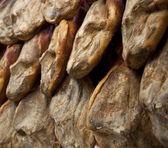 Iberian hams — Stock Photo