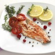 Grilled Salmon wilemon and spices — Stock Photo #30411861