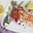 Grilled Salmon wilemon and spices — Stock Photo #30411903