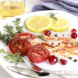 Grilled Salmon wilemon and spices — Stock Photo #30412141