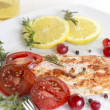 Grilled Salmon wilemon and spices — Stock Photo #30412159