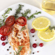 Grilled Salmon wilemon and spices — Stock Photo #30412175