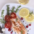 Grilled Salmon wilemon and spices — Stock Photo #30412205