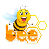 Bee Mascot — Stock Vector