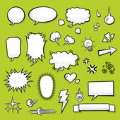 Comic Elements — Vector de stock