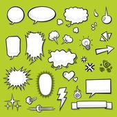 Comic Elements — Stock Vector
